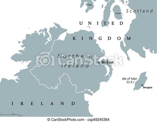 Country Of Ireland Map.Northern Ireland Political Map
