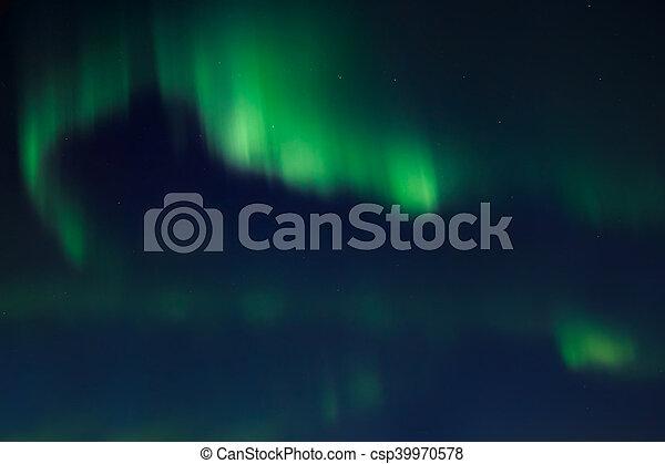Northern lights (Aurora Borealis) - csp39970578