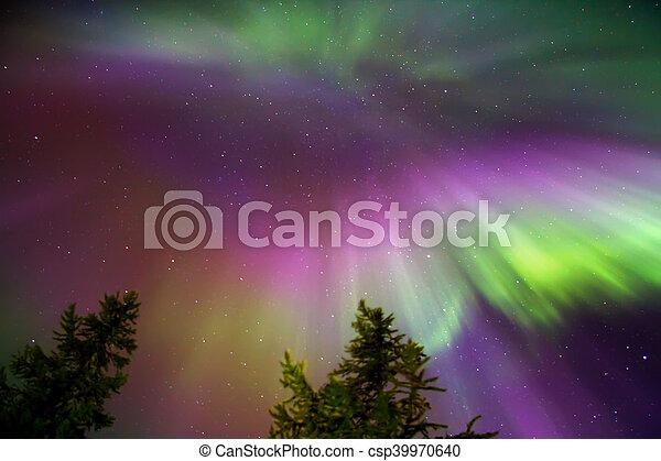 Northern lights (Aurora Borealis) - csp39970640