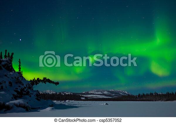 Northern Lights (Aurora borealis) - csp5357052
