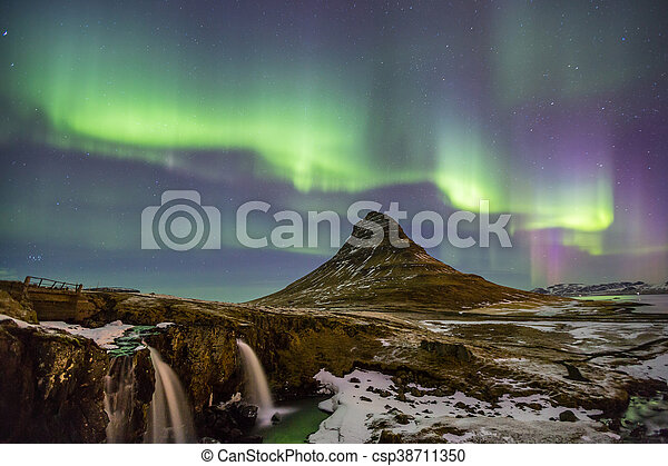 Northern Lights Aurora  Iceland - csp38711350