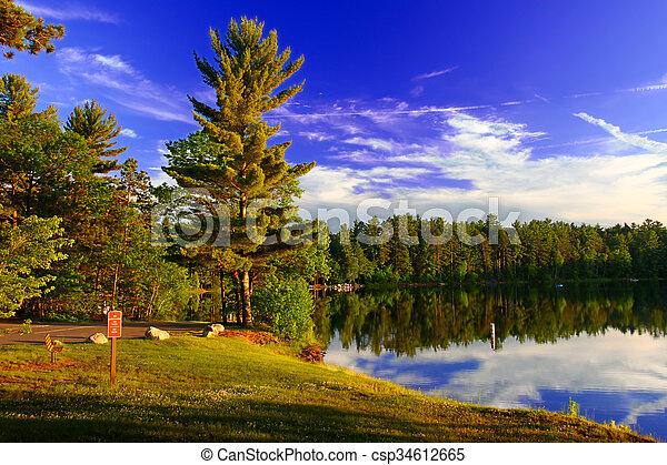 Northwoods Wisconsin Campground - csp34612665