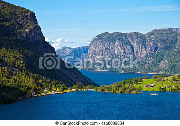 norvège, fjords - csp8009634