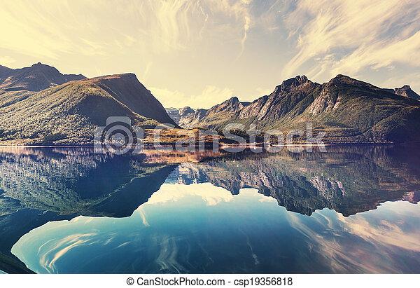 norvège, paysages - csp19356818