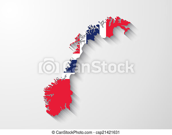 Vectors Of Norway Map With Shadow Effect Presentation Csp - Norway map eps