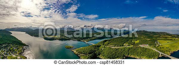 norway., panorama, natur, schöne  - csp81458331