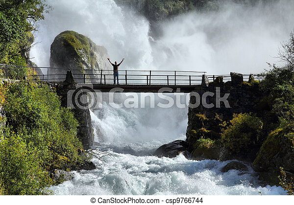 norwegen, tourist - csp9766744