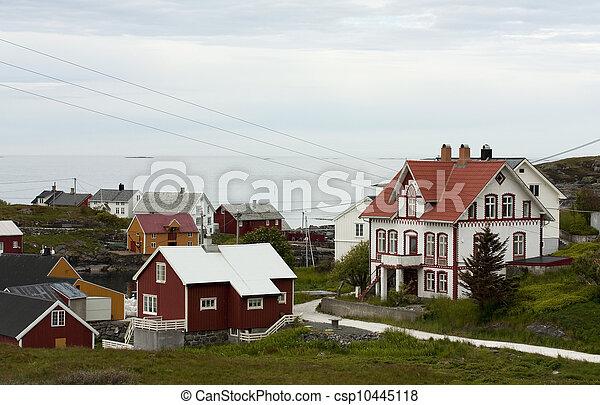 Norwegian coastal village - csp10445118