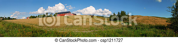 Norwegian Farm Panorama 1 - csp1211727
