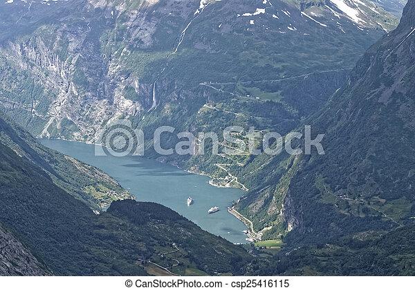 norwegian fjord - csp25416115