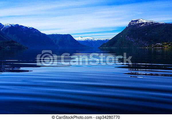 Norwegian fjord - csp34280770