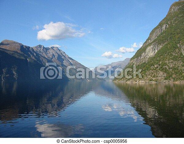 Norwegian fjord - csp0005956