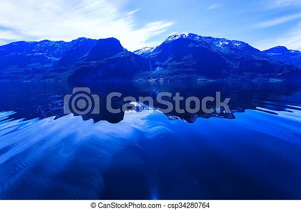 Norwegian fjord - csp34280764