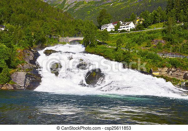 norwegian fjord - csp25611853