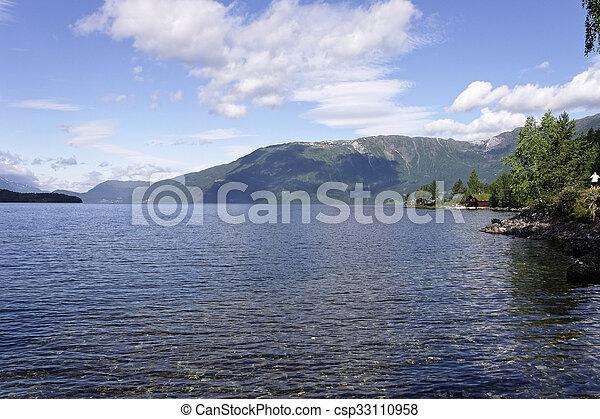 norwegian fjord - csp33110958