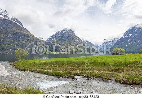 norwegian fjord - csp33156423