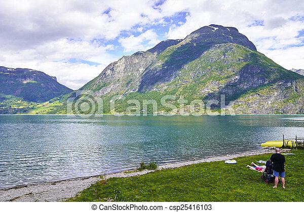 norwegian fjord - csp25416103