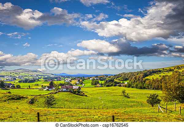 Norwegian landscape - csp16762545