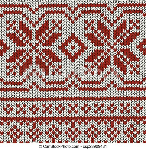 Norwegian Pattern Christmas Vector Norwegian Knitting Pattern