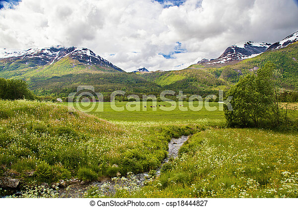 Norwegian summer landscape  - csp18444827
