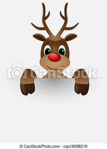 nose., renne, rouges - csp16098218