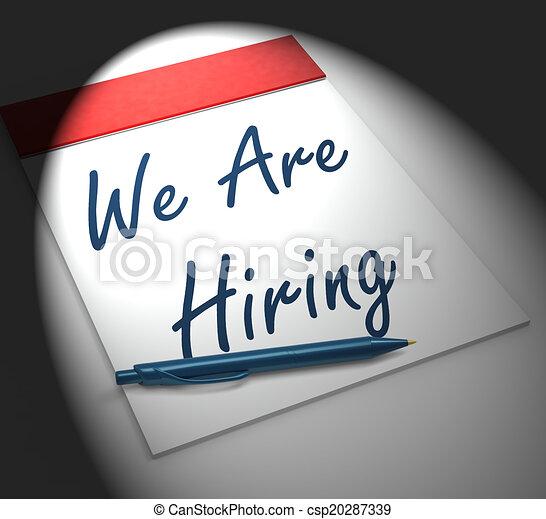 Estamos contratando cuadernos de notas para reclutamiento o persona - csp20287339