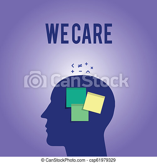 Escribir palabras nos importa. Concepto de negocios para Apoyo que usted da ayuda necesaria tratamiento o asistencia - csp61979329