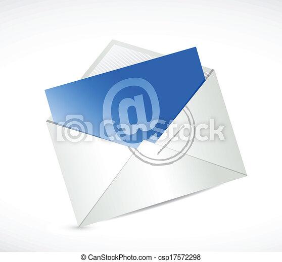 Contáctanos con el diseño de mensajes de e-mail - csp17572298