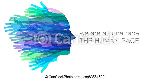 nosotros, todos, humano, uno, race. - csp83551802