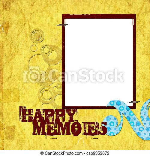 Nostalgia Scrapbook Frame - csp9353672