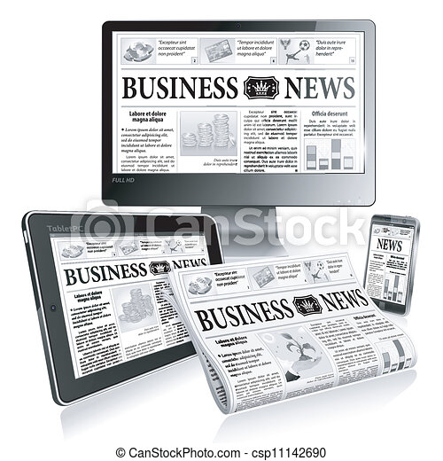 notícia, conceito, -, digital - csp11142690