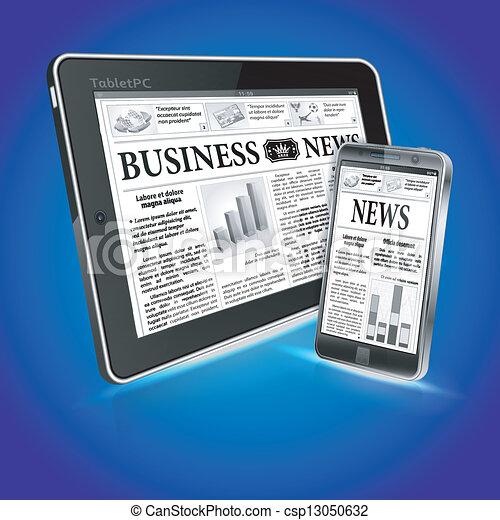 notícia, conceito, -, digital - csp13050632