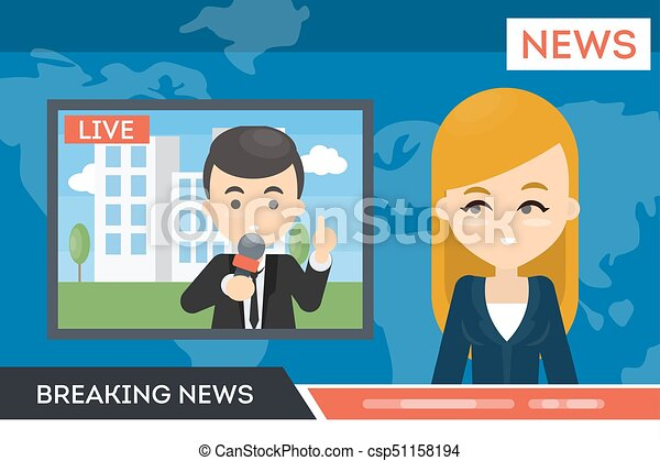 notícia, tv. - csp51158194