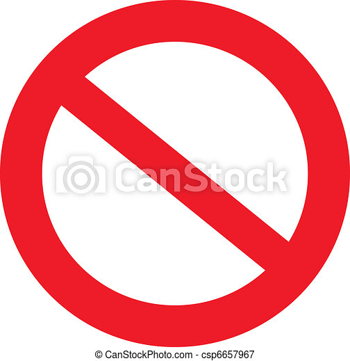 Not Allowed Sign - csp6657967