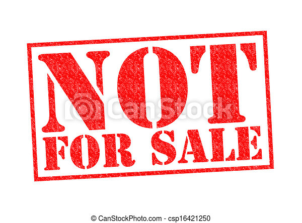 Not For Sale >> Not For Sale Rubber Stamp Over A White Background