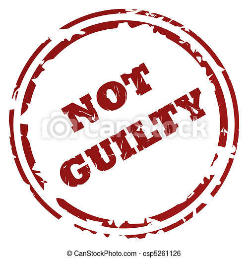 Not guilty stamp - csp5261126