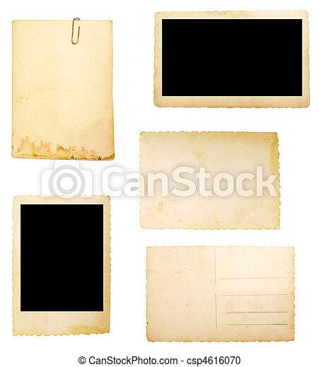 nota, carta da pacchi, vecchio, fondo - csp4616070