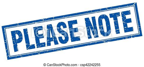 Por favor, anota el sello cuadrado - csp42242255