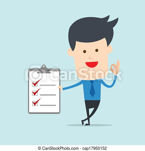 nota, lista, uomo, affari, mostra - csp17950152