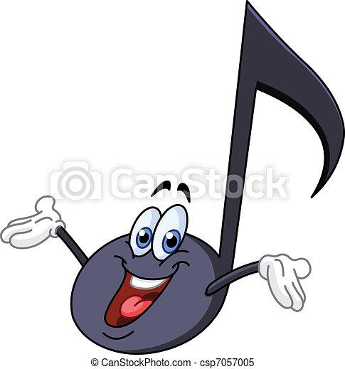 nota, música, caricatura - csp7057005