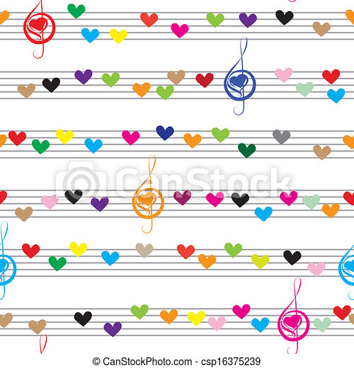 La nota musical suena textura - csp16375239