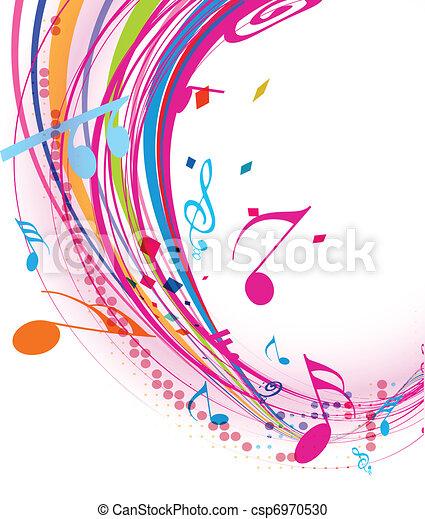 nota, música, fundo - csp6970530