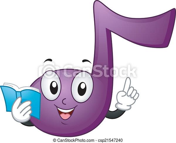 La mascota de la nota de música - csp21547240