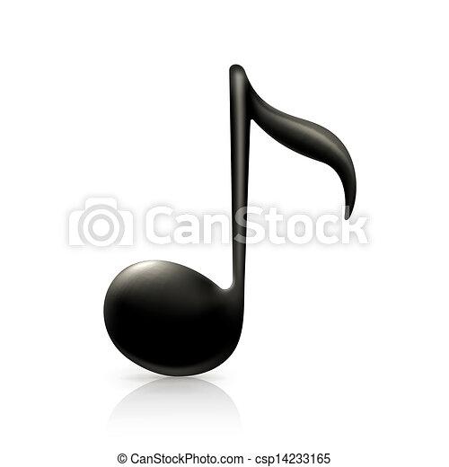 nota, música - csp14233165