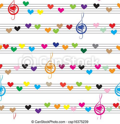 nota, musica sana, struttura - csp16375239