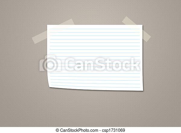 Nota papel - csp1731069