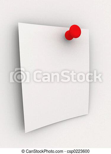 Una nota pegajosa, pi rojo - csp0223600