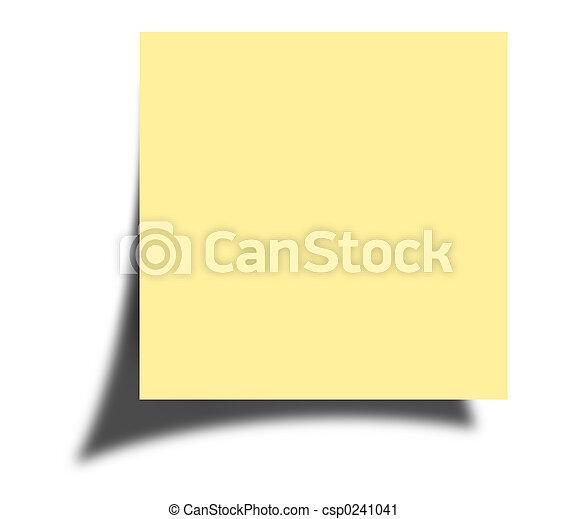 nota, poste - csp0241041
