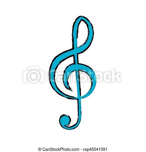 Nota Simbolo Musica Simbolo Grafico Ilustracao Nota Vetorial