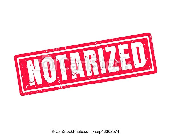 notarized red stamp style - csp48362574